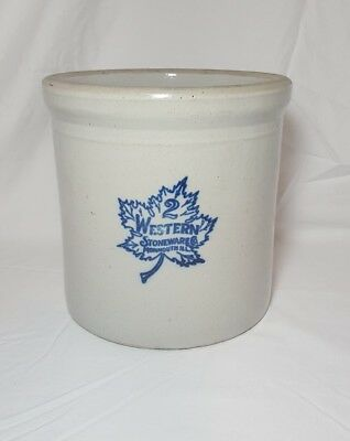 Vintage 2 Gallon Western Pottery Crock Planter Stoneware VERY CLEAN