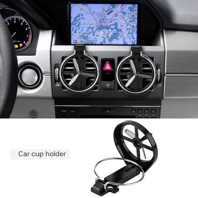 Car Drink Water Cup Beverage Bottle Bracket Holder with Fan Air Vent Folding New