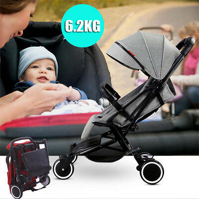 Compact Lightweight Baby Kids Stroller Pram Folding Travel Carry On The Plane