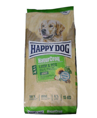 15kg Happy Dog  Naturcroq Adult Lamm&Reis Hundefutter