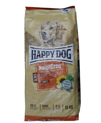 15kg Happy Dog  Naturcroq Adult Rind & Reis Hundefutter