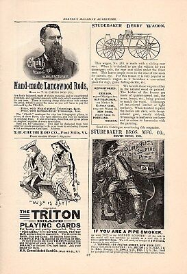 7 Ny Consolidated Triton Playing Cards Ads-Hart's Squeezers