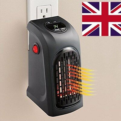240V 350W Portable Wall-Outlet Electric Heater Fan Handy Air Warmer Silent
