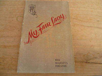 Vintage Old 'my Fair Lady' Music, Theatre Programme (358)
