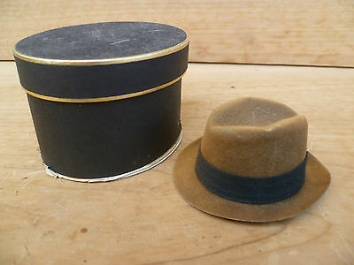 Vintage Old Small Size Salesman Hat In Box, (476)
