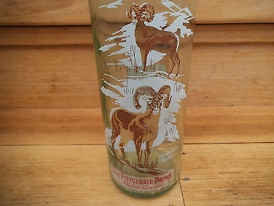 Vintage Old Very Nice Glass Bourbon Whisky Advertising Bottle,