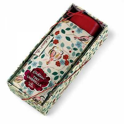 Cath Kidston Tiny-2 Umbrella with Gift Box - Painted Birds - BNIB