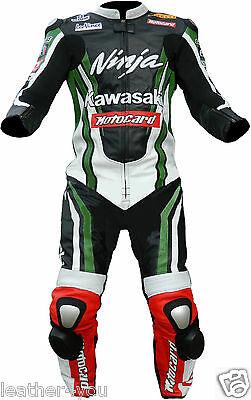 K Ninja Motorcycle Leather Suit Moto Gp Motorbike Leather Jacket Trouser