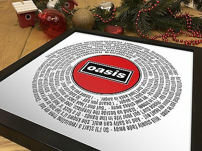 Oasis Don't Look Back In Anger   12 inch Single Vinyl LP Size Poster   Fan Gift