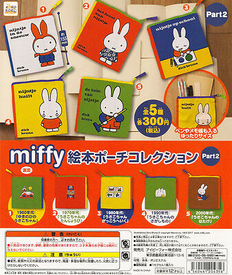 Miffy Picture Book Pouch Collection Part 2 Gashapon Dick Bruna Set of 5pcs