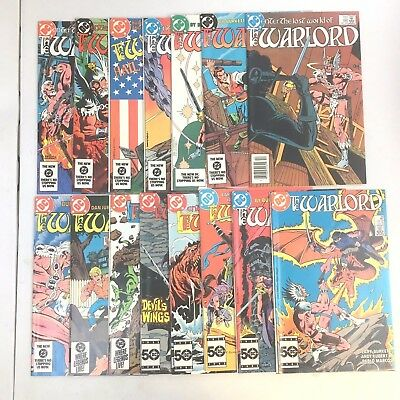 Warlord DC -  #82-89,91-96,99 Lot of 15 All NM! High Grade Lot White Pages.