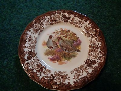 """10"""" Game Bird Series Plate with Partridges Royal Worcester Palissy"""