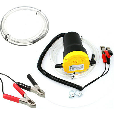 Electric 60W 12V Transfer Pump Extractor Oil Fluid Diesel Car Motorbike UK Sale