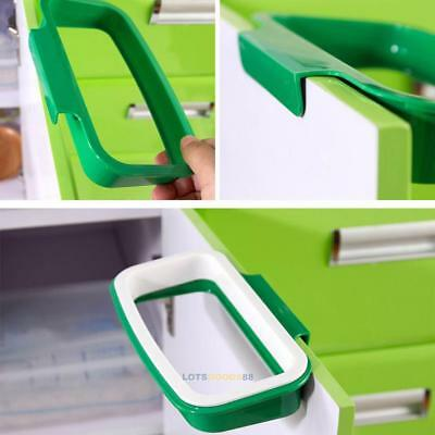 Hanger Kitchen Cabinet Door Trash Rack Storage Garbage Bag Waste Bin Holder Hook
