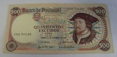 Portugal. 500 Escudos, 6/9/1979,  Almost Uncirculated. JRK 70129