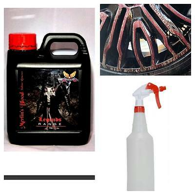Merlin's Blood Fallout Remover 1L Wheel Cleaner + Application  Bottle