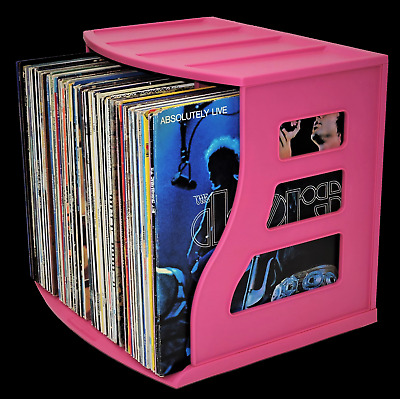 LP Vinyl Record Crate 12x12 Paper Storage Rack Ring Binder Stand Magazine  Holder
