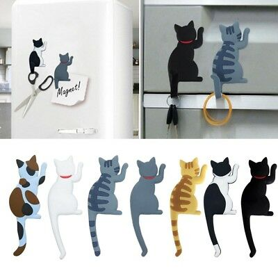 Funny Cartoon Animals Cat Fridge Magnet Sticker Refrigerator Phone Home Decor