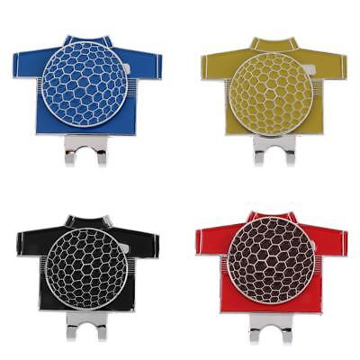 4Pcs Golf T-shirt Alloy Golf Ball Marker with Magnetic Hat Clip