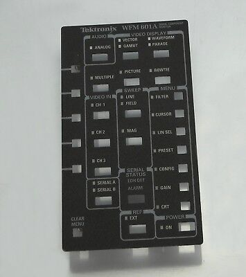 Tektronix WFM601A new control panel NOS CPO faceplate 333-4224