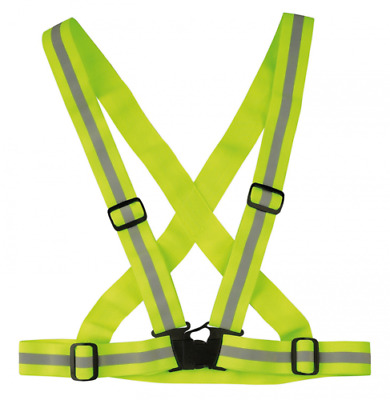 Wowow Cross Belt Adjustable Highly Reflective Belt Ideal For Runners Yellow