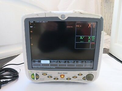 Ge Dash 5000 Mobile Patient Bedside Vital Signs Nibp Spo2 Nbp Ecg Colour Monitor