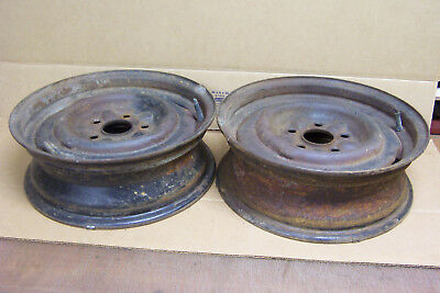"1965 1966 & Other Ford, Galaxie 5 Lug 15"" X 5 x 3 3/4 Steel Wheels Or Rims 5MH"