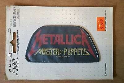 Metallica Master of puppets woven patch vintage sew on iron official licenced