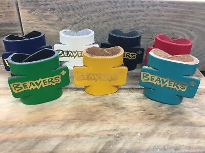 LEATHER 3D BEAVER SCOUT WOGGLE - Beaver Scout Woggle (Choice of Colours)