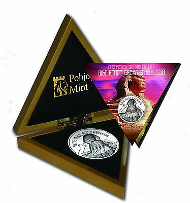 2015 British Virgin Islands Great Sphinx High Relief Silver Coin 1,999 Minted!