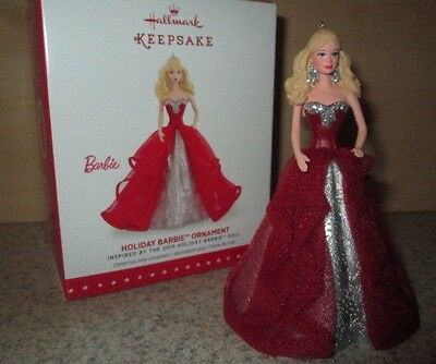 NEW Hallmark Keepsake Christmas Dress Barbie Doll Holiday Ornament #1 Figure