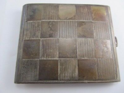 900 Silver Art Deco Cigarette Case Excellent Condition No Mono
