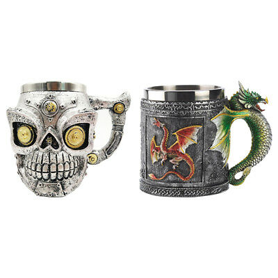 Unique Dragon Stainless Steel Mug Cup Office Decoration 350ML Colorful