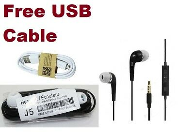 100% High Quality Samsung Black In-Ear Headset Headphone S3 S4 S5 S6 & Universal