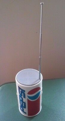 Vintage Pepsi Cola Can AM/FM Radio TESTED WORKS 9V FREE SHIPPING