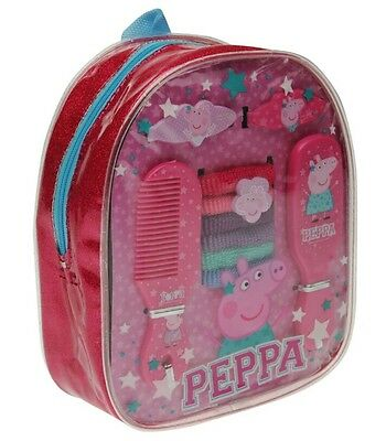 Official Peppa Pig Small Back Pack & Hair Accessory 10 Pieces Set