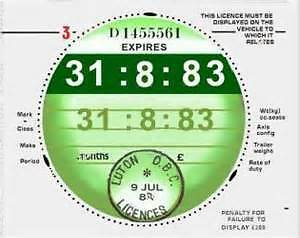 Aug 83 1983 classic car tax disc just fill in the details other years available