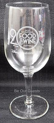 Disney 20th Food Wine Festival 2015 Passholder Exclusive Wine Glass New