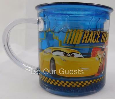 Disney Store Cars 3 Funfill Cup Mug Plastic New 6 oz. Meal Time Magic
