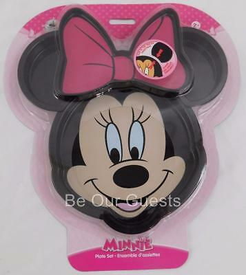 Disney Store Minnie Mouse Face Clip Ears Meal Time Magic Collection Plate New