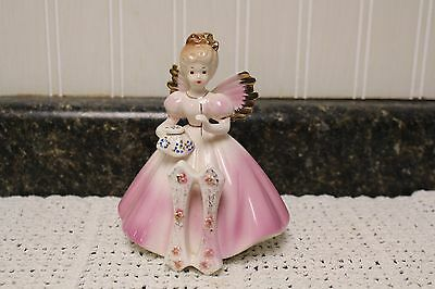 Josef Originals Birthday Girl Pink 11 Years Old Angel With Sewing Needle Label