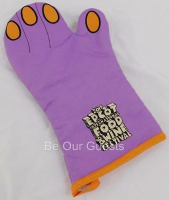 Disney Parks Epcot Food and Wine Festival Figment Oven Hot Mitt Potholder New