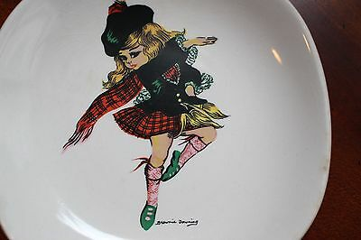 Brownie Downing Ceramics Isle Of Skye Scottish Girl Pin Dish Jh Weatherby & Sons