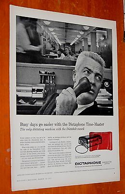 1957 Dictaphone Timemaster Dictating Machine Canadian Ad - Vintage Retro 50S