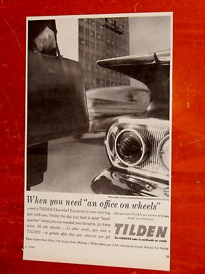 1960 Chevy Impala 1959 Pontiac For Tilden Rent A Car Canadian Ad / Vintage 60S