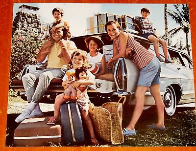 Iconic American Family With 1967 Mercury Commuter Wagon Picture - Vintage 60S