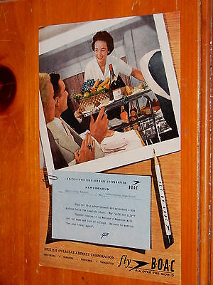Beautiful 1957 Boac Airlines Canadian Vintage Ad - British Overseas Airways Corp
