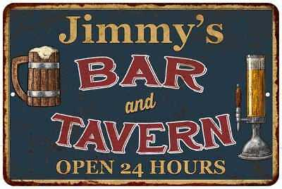 Jimmy's Green Bar and Tavern Open 24hrs Chic Sign Home Décor Gift Cave 81207371
