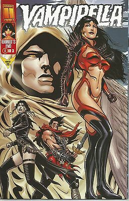 VAMPIRELLA MONTHLY (World's End - No. 1)  -  #  13 (March 1999) features PANTHA