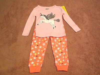 Baby Girls Crazy 8 Two-Piece Unicorn & Stars Pajama Set Size 18-24M